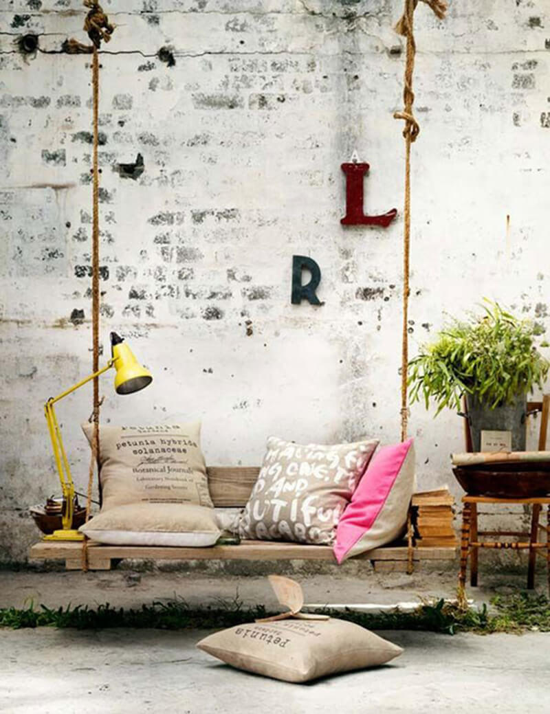 Cách trang trí xích đu trong thiết kế nội thất nhà của bạn