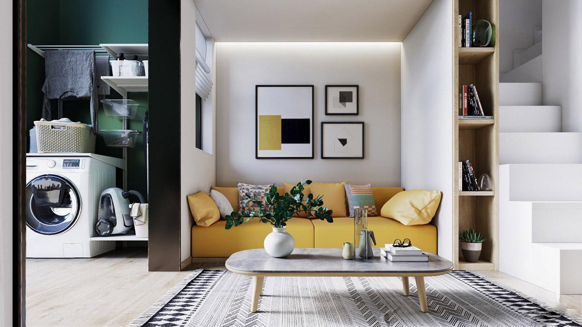 Nhà phố đẹp hơn trong thiết kế nội thất hiện đại pha lẫn Scandinavia – Anh Khải