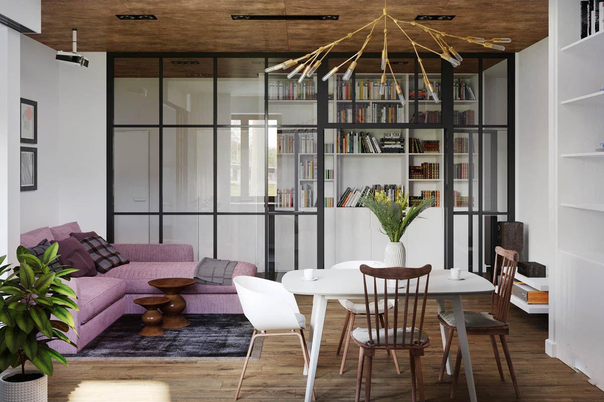 Thiết kế nội thất Masteri 2 phòng ngủ cho thuê đơn giản nhưng sang trọng – Chị Loan