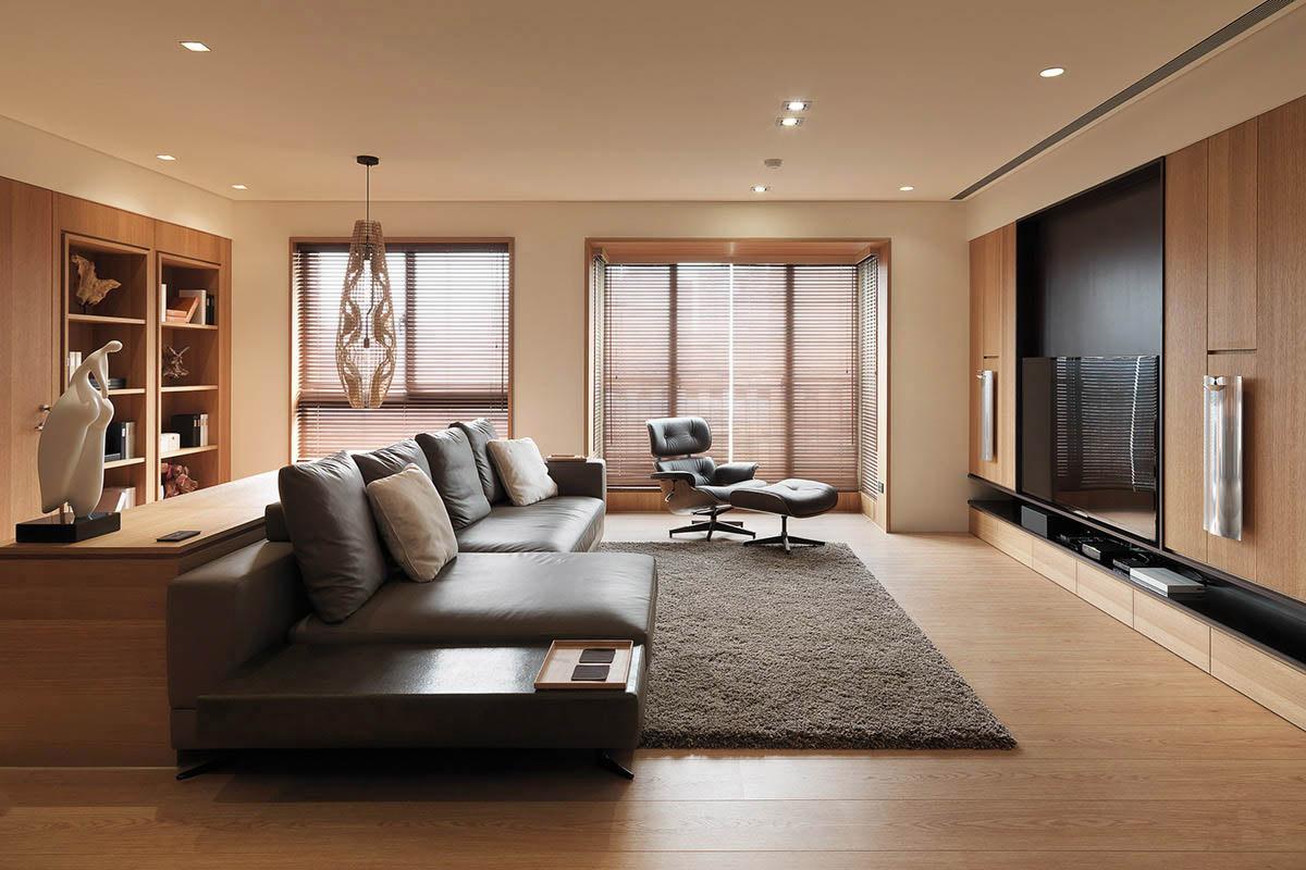 Thiết kế nội thất biệt thự chủ yếu bằng gỗ