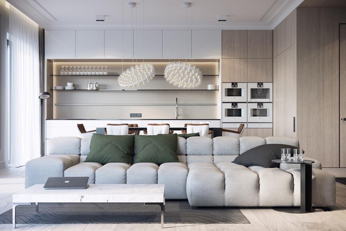 Thiết kế nội thất biệt thự hiện đại đem lại tâm hồn thanh thản