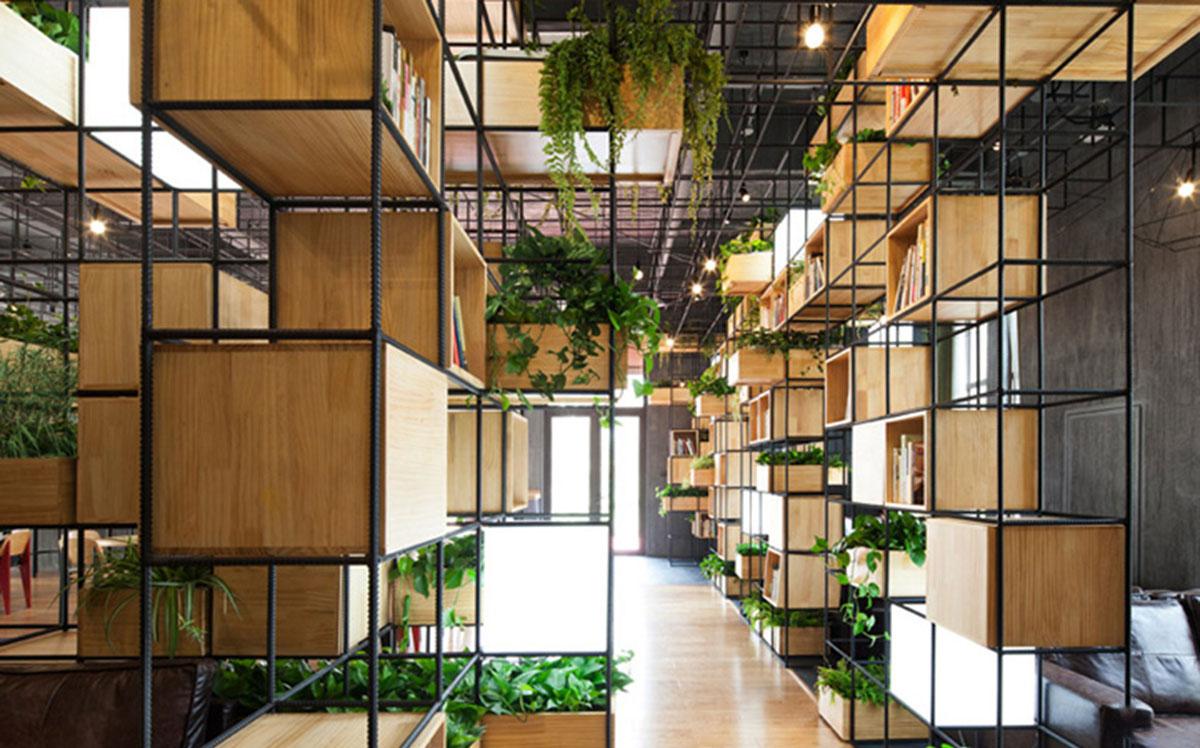 Thiết kế nội thất cà phê thân thiện với môi trường