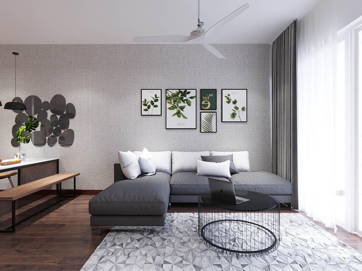 Thiết kế nội thất căn hộ 3 phòng ngủ diện tích 92m2 dự án VStar Q7 – Anh Cương