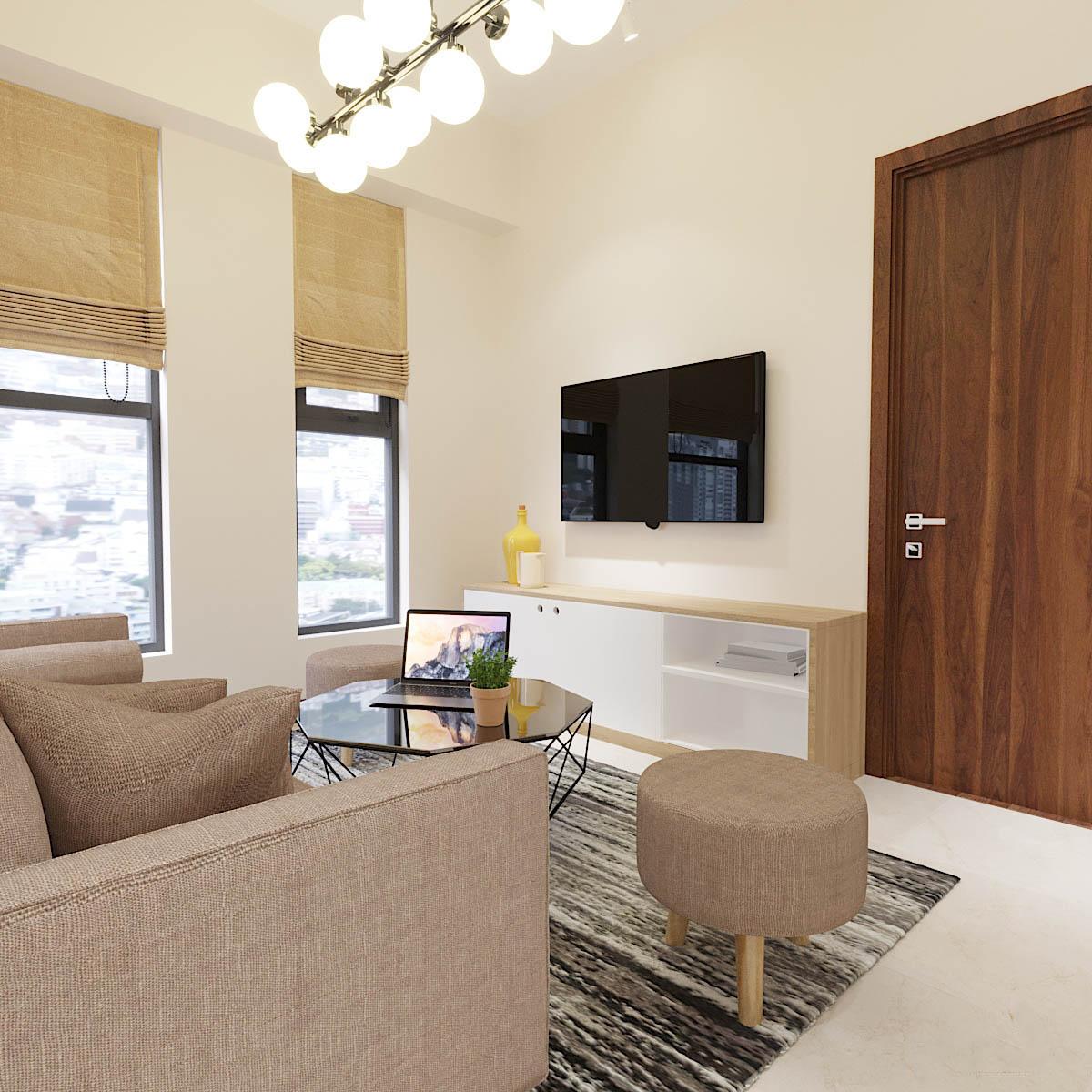 Thiết kế nội thất căn hộ chung cư Centana Quận 2 – Chị Phương Anh Toại
