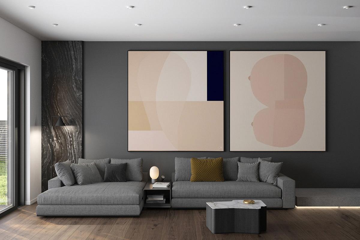 Thiết kế nội thất nhà phố hiện đại đơn giản tinh tế Chị Ngân