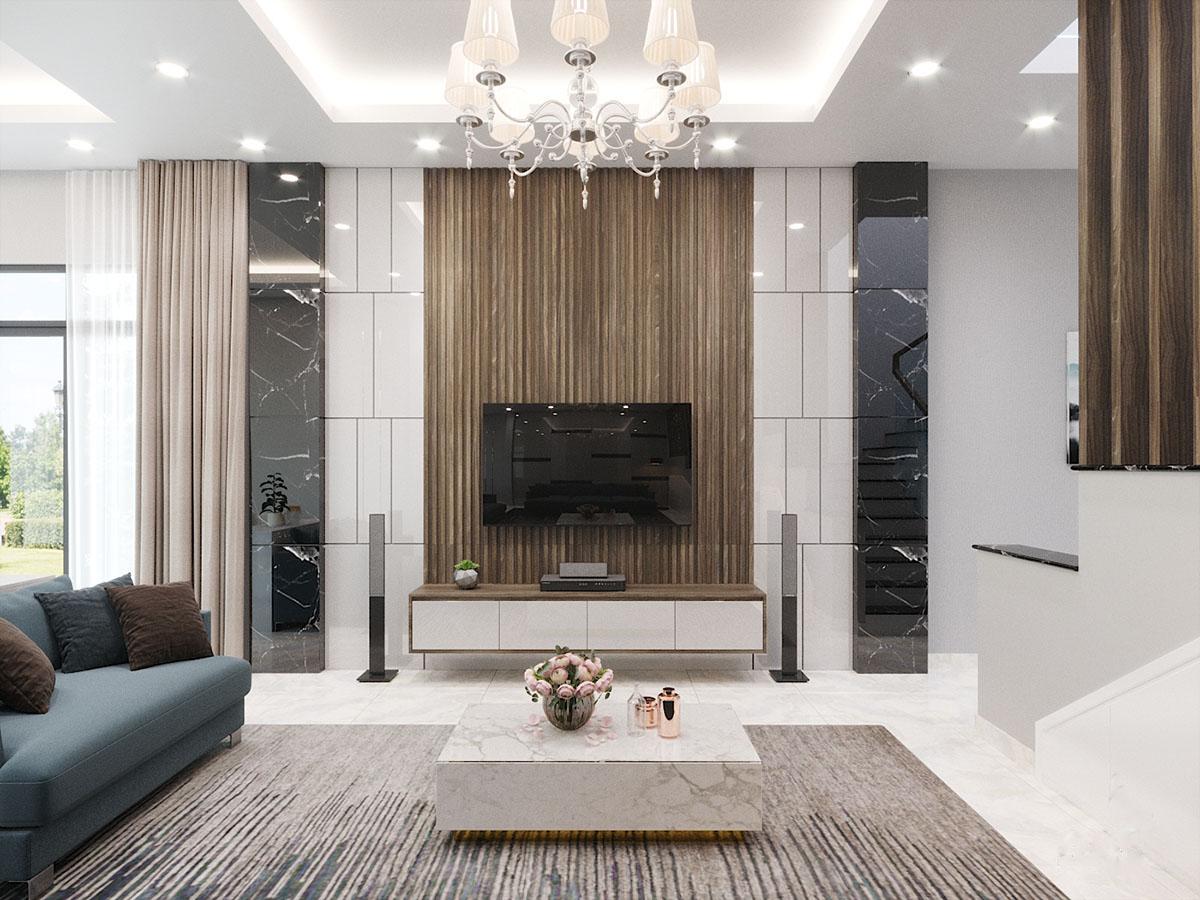 Thiết kế nội thất nhà phố Long An 130m2 – Chị Phước