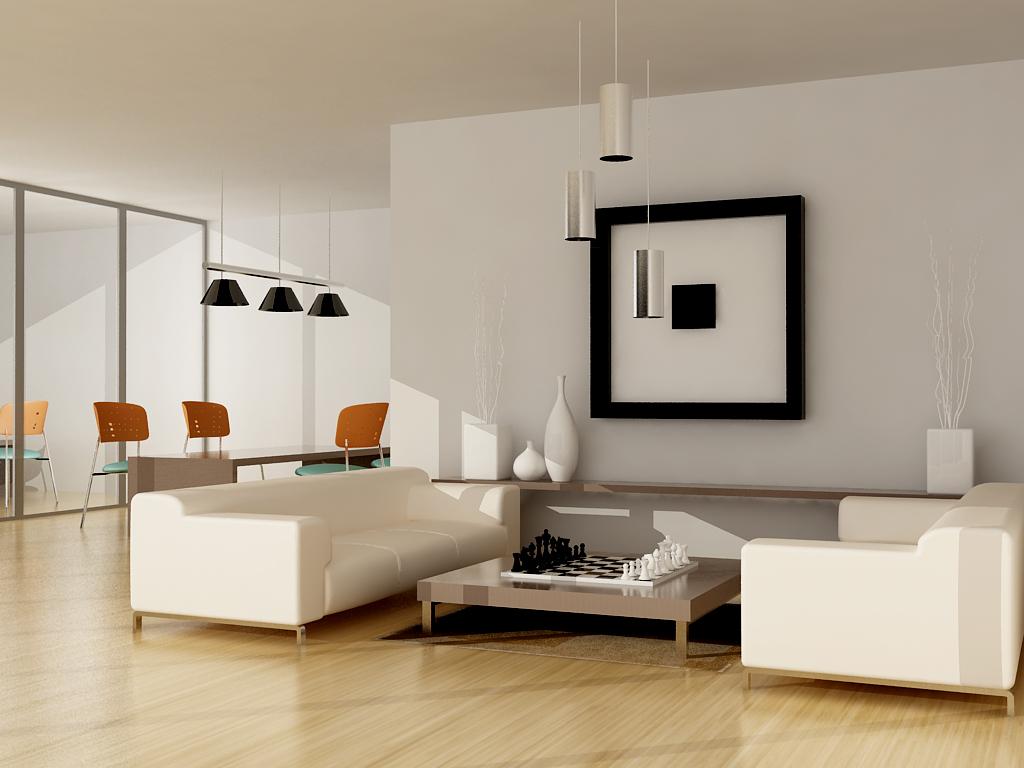 Thiết kế nội thất phòng khách sạn màu kem ấn tượng