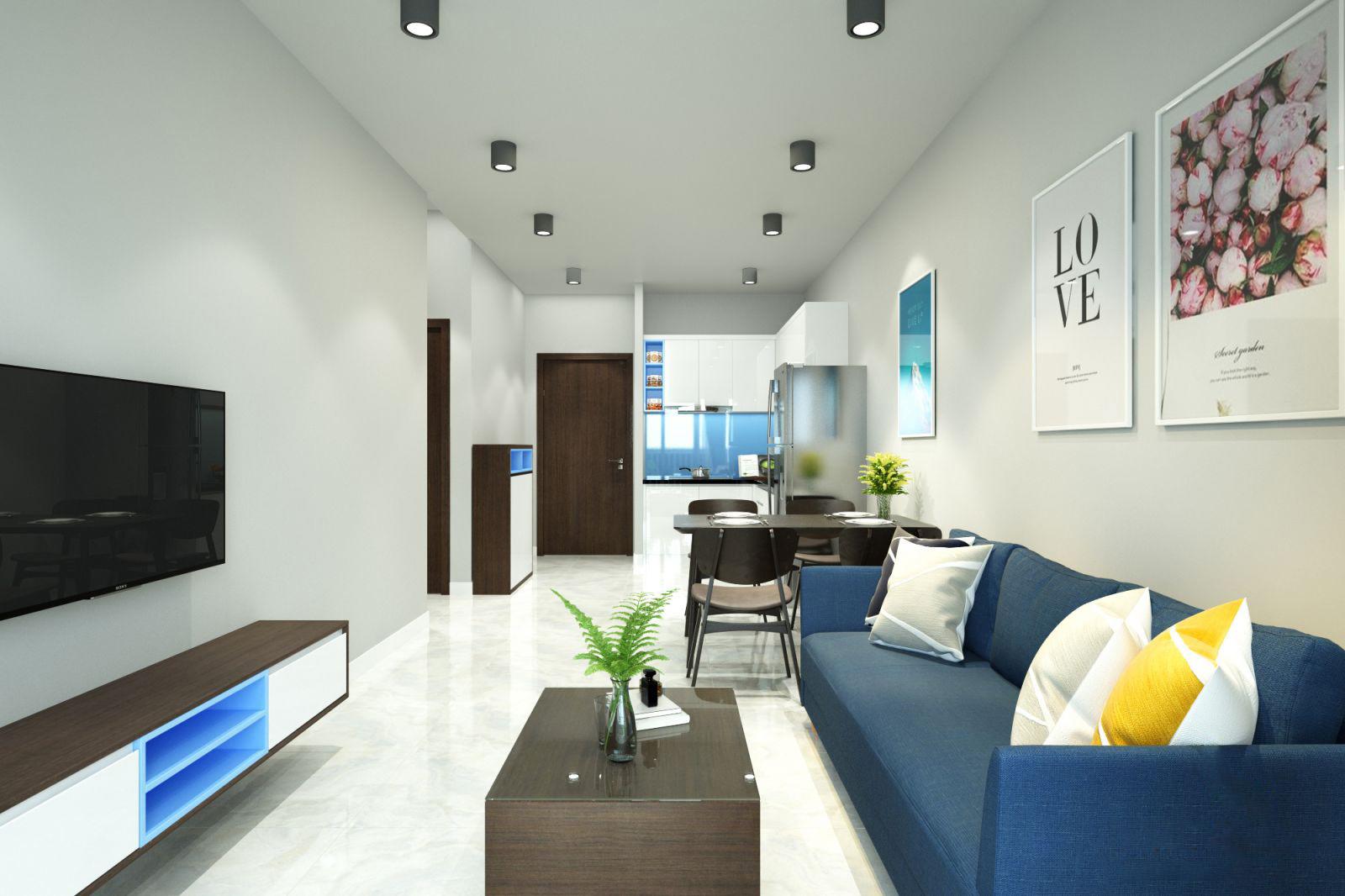 Thiết kế nội thất căn hộ Botanica Premier 65m2 – Chị Ngọc