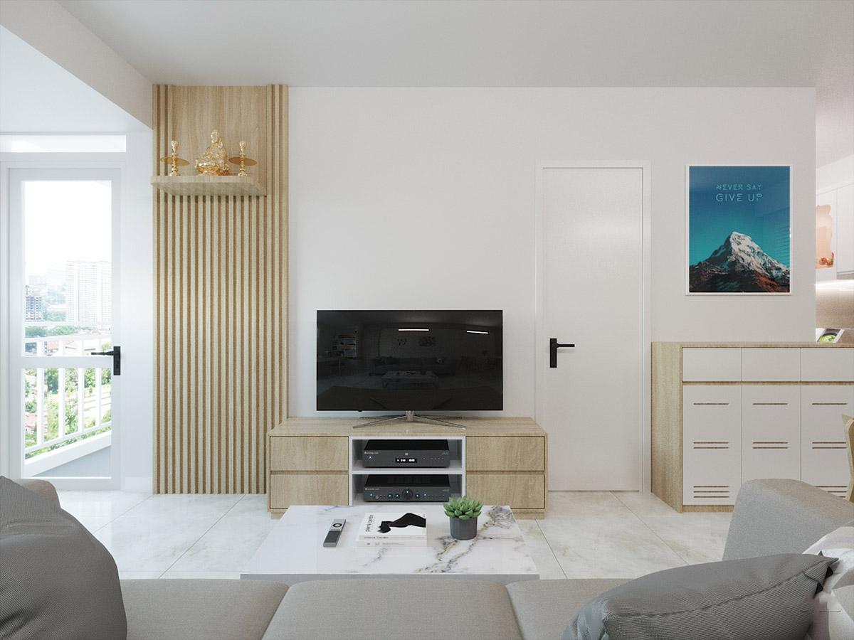 Thiết kế nội thất căn hộ Ehome Bình Chánh – Chị Linh