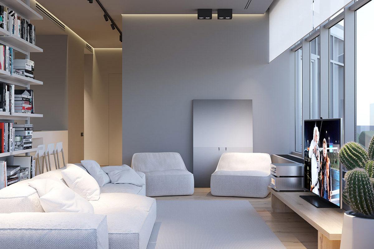 Thiết kế nội thất căn hộ nhỏ 83m2 theo tông sáng hiệu quả nhất
