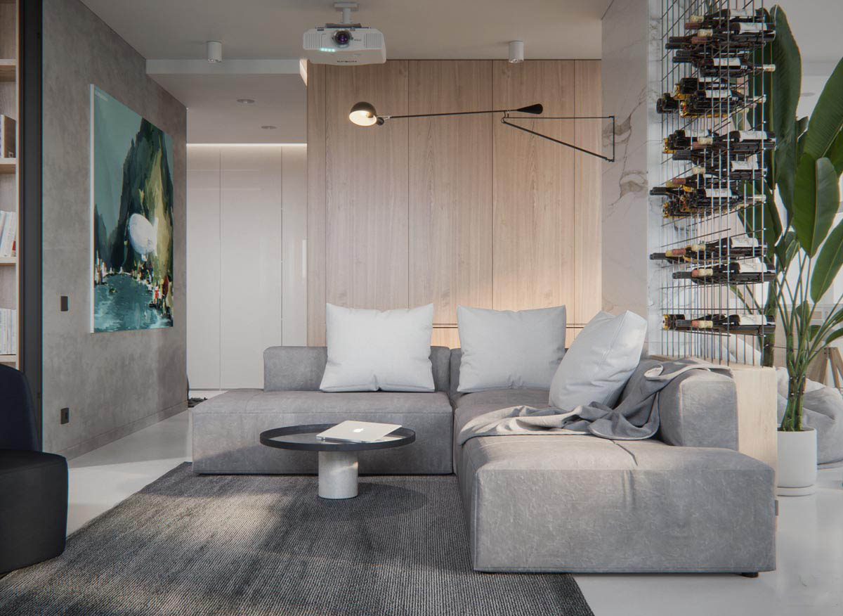 Thiết kế nội thất căn hộ phong cách hiện đại tông sáng – Mr Jack